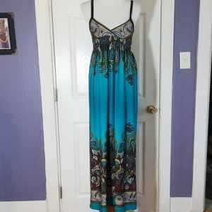 Bailey Blue Maxi Dress Size 8